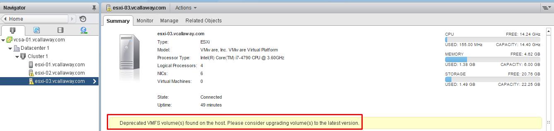 VMFS volume error