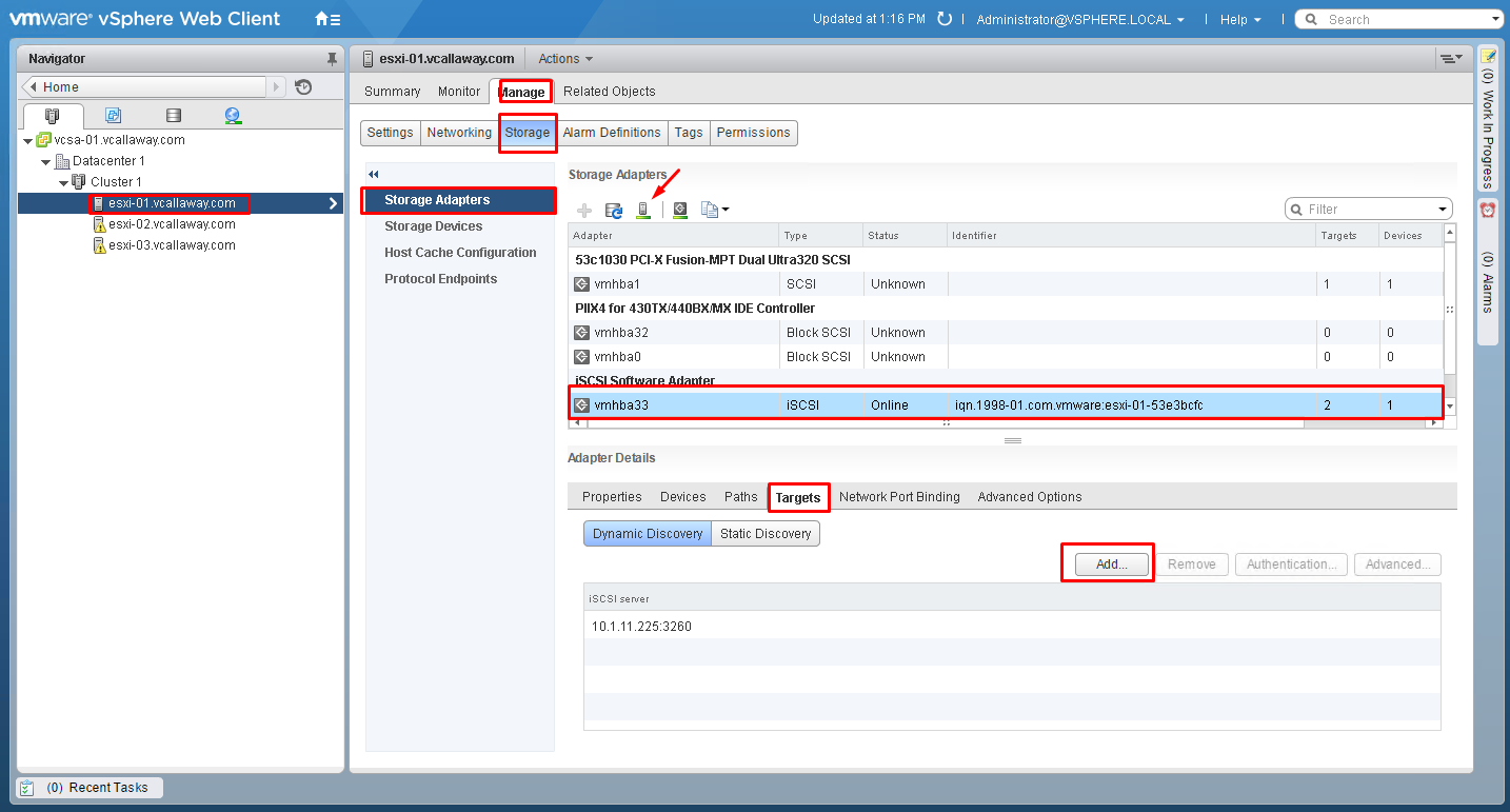 Objective 3.1 - Manage vSphere Storage Virtualization - Part 1