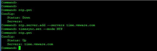Configure NTP Service for vCenter Server Appliance 6