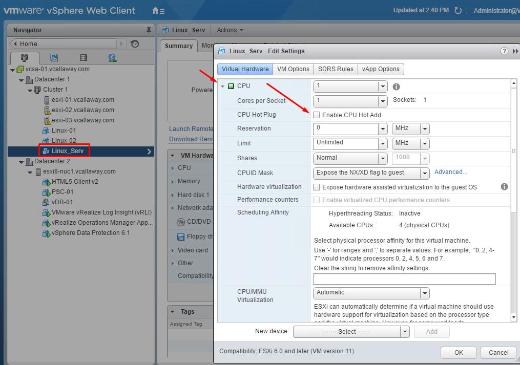 VCAP6: 1 4 - Perform Advanced Virtual Machine Configurations - vCallaway