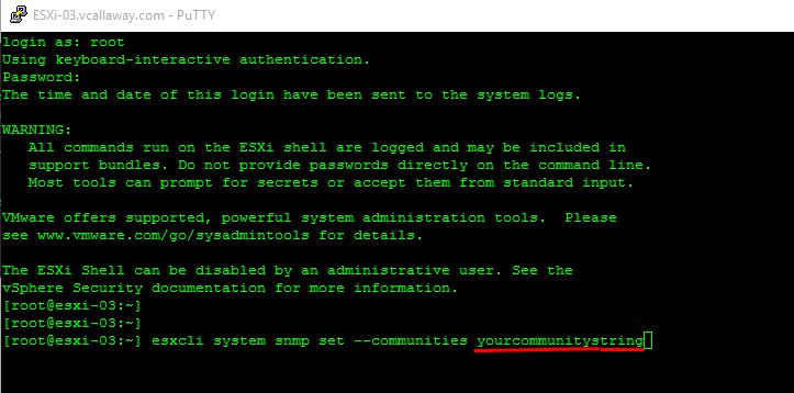 Configure SNMP on ESXi 6 5 - vCallaway